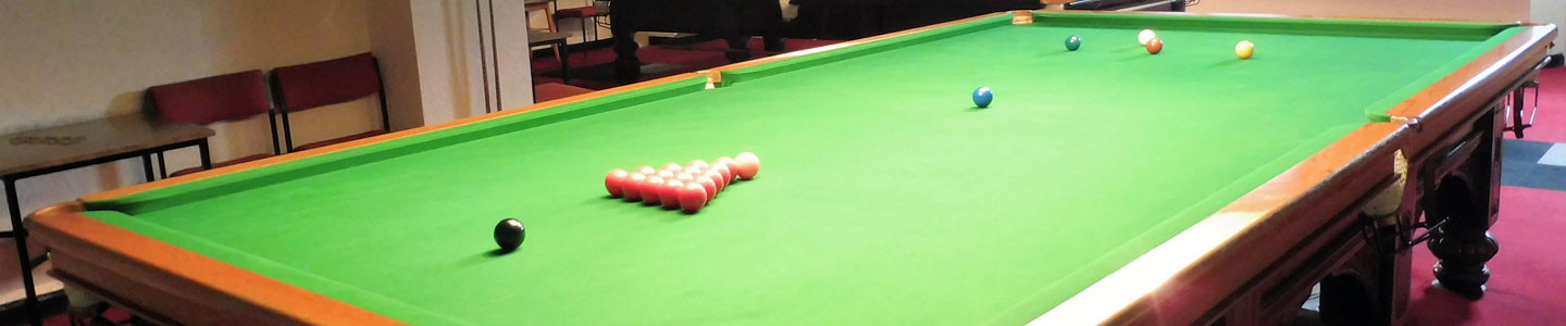 Photo: snooker tables at Penrith Conservative Club